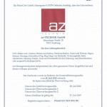 ISO Zertifikat PRIMECERT 0121 0716 DE